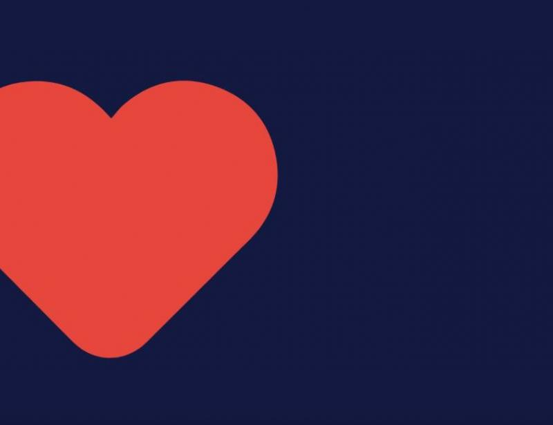 navy red heart video